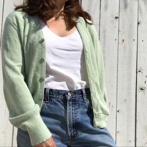Vintage mint green cardigan